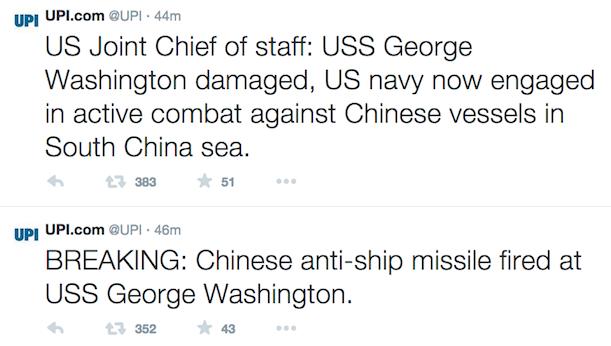upi twitter USS George Screenshot