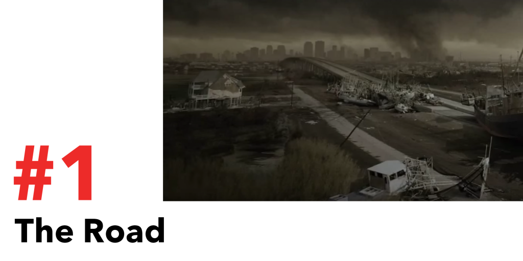 Post Apocalyptic scene from the Road movie