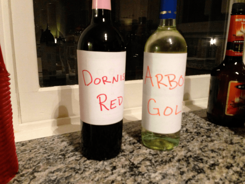 hand labeled wines for game of thrones