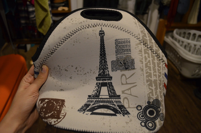 A Simple Handbag with the Eiffel Tower