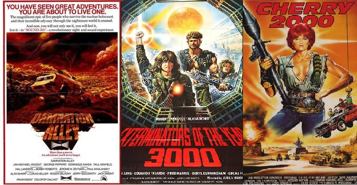 post apocalyptic movie posters for b movies cherry 200 and damnation alley